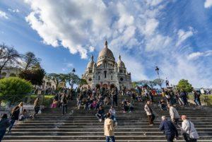 Sacre Coeur es la cima del barrio Montmartre
